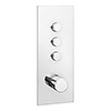 Cruze Triple Modern Square Push-Button Shower Valve with 3 Outlets profile small image view 1