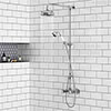 Chatsworth Thermostatic Shower with Diverter, Rigid Riser & Fixed Head profile small image view 1