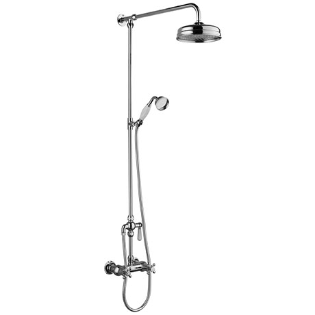 Chatsworth Thermostatic Shower Bar Valve with Diverter, Rigid Riser & Fixed Head