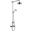 Chatsworth Thermostatic Shower Bar Valve with Diverter, Rigid Riser & Fixed Head profile small image view 1