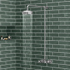 Chatsworth Thermostatic Shower Bar Valve with Rigid Riser & Fixed Head profile small image view 1