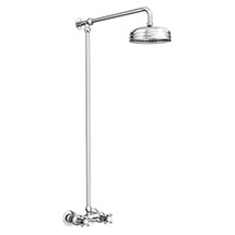 Chatsworth Thermostatic Shower Bar Valve with Rigid Riser & Fixed Head Medium Image