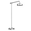 Chatsworth Thermostatic Shower Bar Valve with Rigid Riser & Fixed Head Small Image