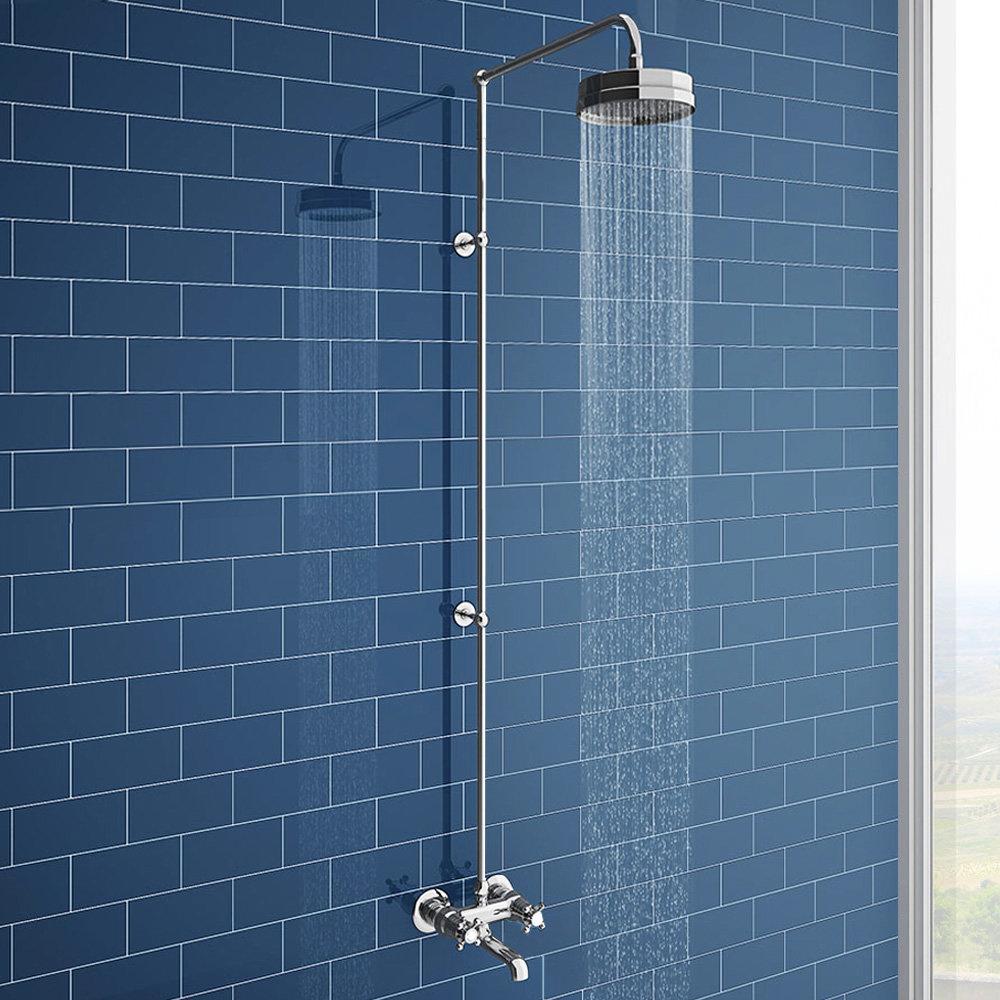 Chatsworth Thermostatic Shower Bar Valve with Rigid Riser & Bath Tap
