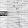 Chatsworth Traditional Thermostatic Shower - Chrome profile small image view 1