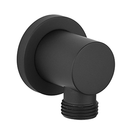 Arezzo Matt Black Round Elbow for Concealed Showers