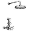 Chatsworth 1928 Twin Exposed Thermostatic Shower Pack (Inc. Valve, Elbow + Fixed Shower Head) profile small image view 1