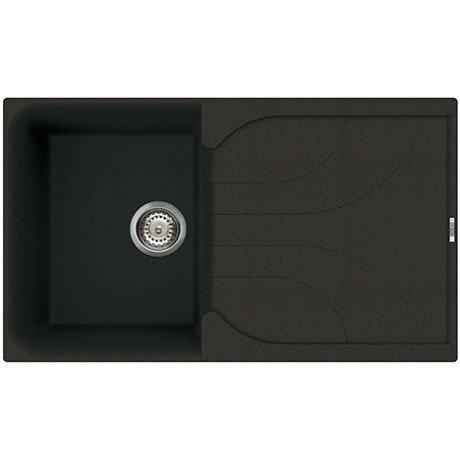 Reginox Ego 400 1.0 Bowl Granite Kitchen Sink - Black