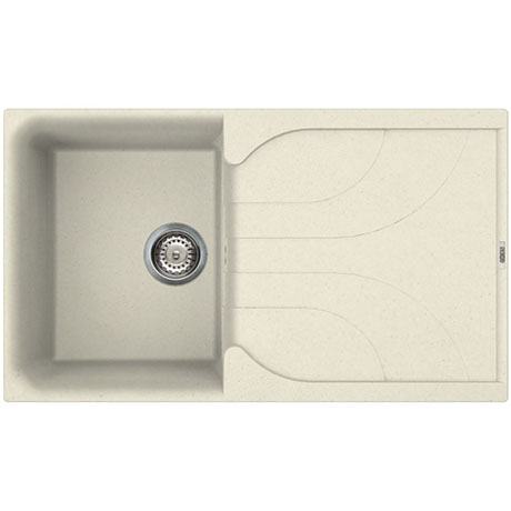 Reginox Ego 400 1.0 Bowl Granite Kitchen Sink - Cream