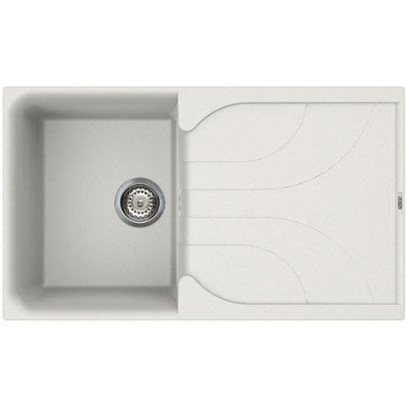 Reginox Ego 400 1.0 Bowl Granite Kitchen Sink - White