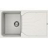 Reginox Ego 400 1.0 Bowl Granite Kitchen Sink - White profile small image view 1