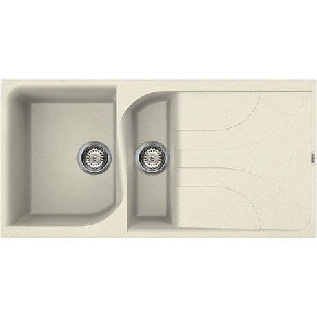 Reginox Ego 475 1.5 Bowl Granite Kitchen Sink - Cream