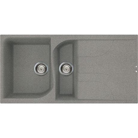 Reginox Ego 475 1.5 Bowl Granite Kitchen Sink - Titanium