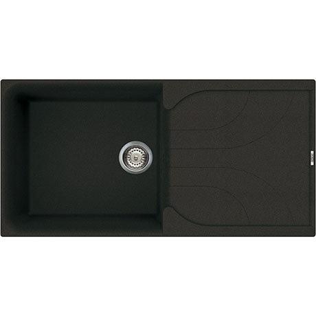 Reginox Ego 480 1.0 Bowl Granite Kitchen Sink - Black