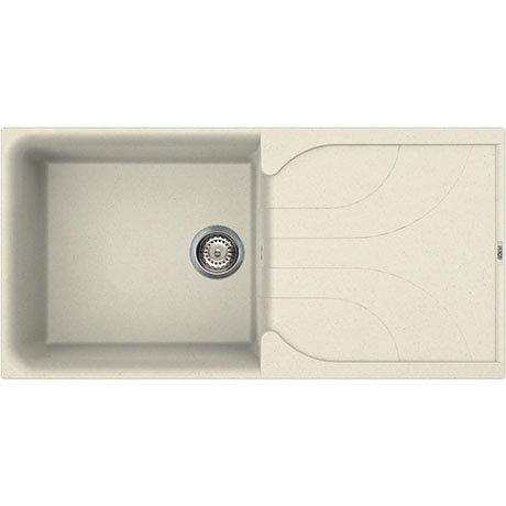 Reginox Ego 480 1.0 Bowl Granite Kitchen Sink - Cream