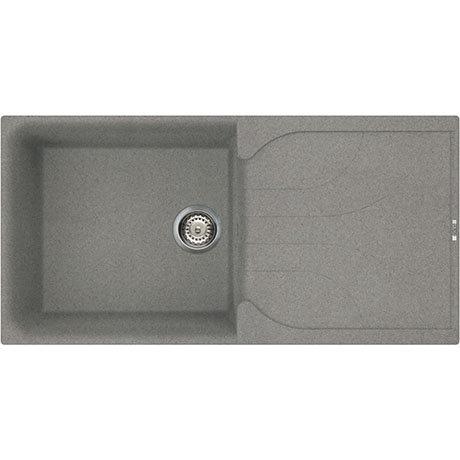Reginox Ego 480 1.0 Bowl Granite Kitchen Sink - Titanium