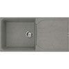 Reginox Ego 480 1.0 Bowl Granite Kitchen Sink - Titanium profile small image view 1