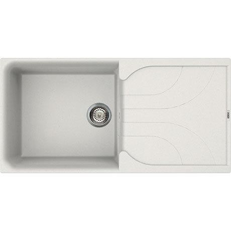 Reginox Ego 480 1.0 Bowl Granite Kitchen Sink - White