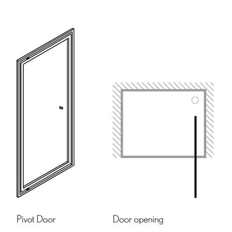 Simpsons Edge Infold Shower Door 5 Size Options At