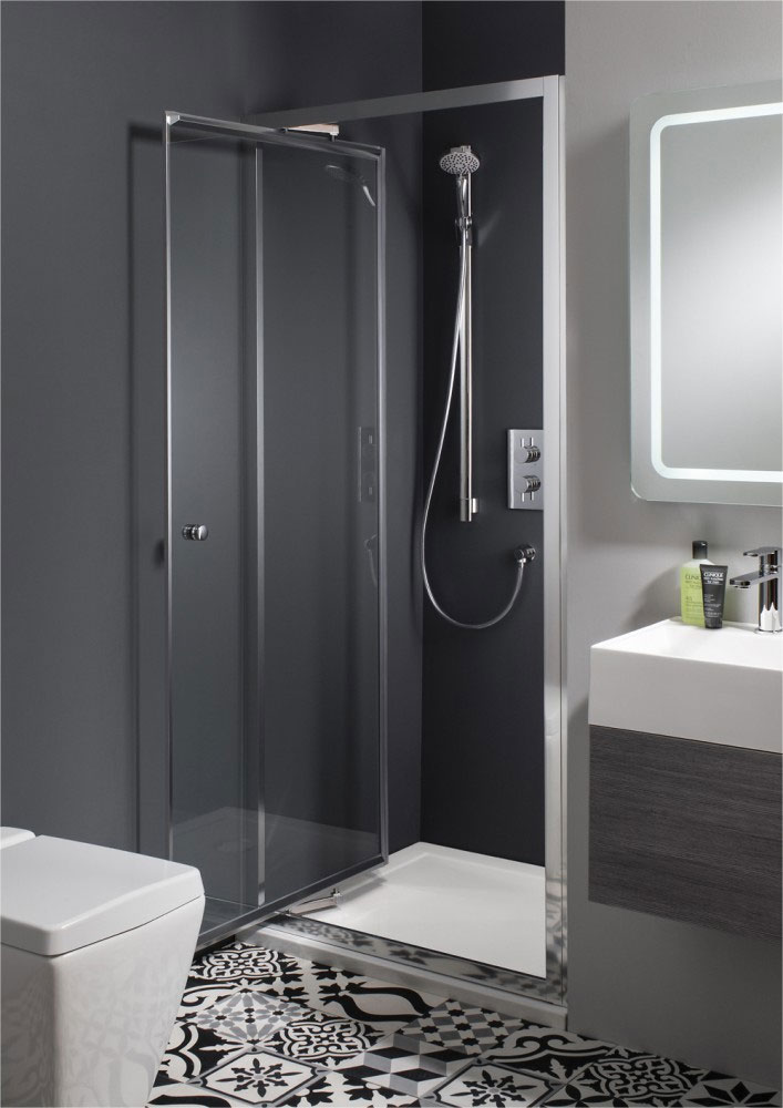 Simpsons - Edge Infold Shower Door - 5 Size Options profile large image view 1