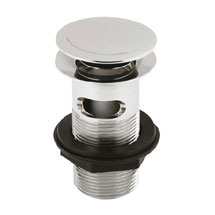 Hudson Reed Slotted Sprung Plug Basin Waste - Chrome - EK303 Medium Image
