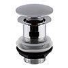 Hudson Reed Slotted Sprung Plug Basin Waste - Chrome - EK303 profile small image view 1