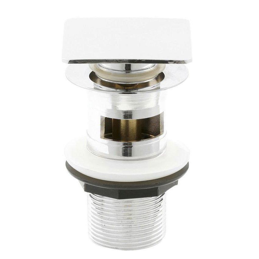 Hudson Reed Square Slotted Sprung Plug Basin Waste - Chrome - EK307 Large Image