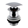 Hudson Reed Square Slotted Sprung Plug Basin Waste - Chrome - EK307 profile small image view 1