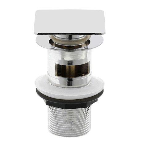 Hudson Reed Square Slotted Sprung Plug Basin Waste - Chrome - EK307
