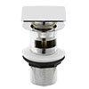 Hudson Reed Square Slotted Sprung Plug Basin Waste - Chrome - EK307 profile small image view 1