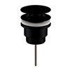 Arezzo Black Universal Push Button Basin Waste profile small image view 1