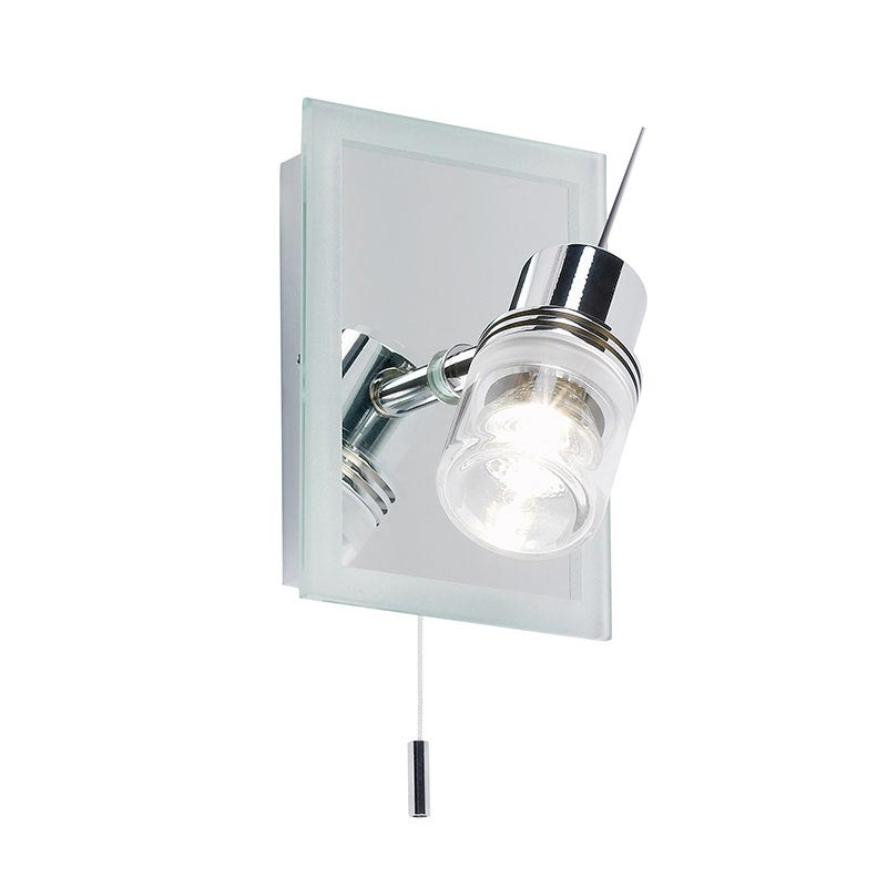 Endon - Delta Mirror Backed Single Spotlight Light Fitting - Chrome - EL-171 Large Image