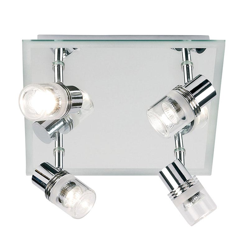Endon - Delta Mirror Backed 4 Spotlight Ceiling Light Fitting - Chrome - EL-174 profile large image view 1