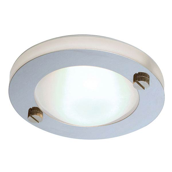 Endon - Elson Circular Stainless Steel Moulded Shower Light - EL-20014 profile large image view 1
