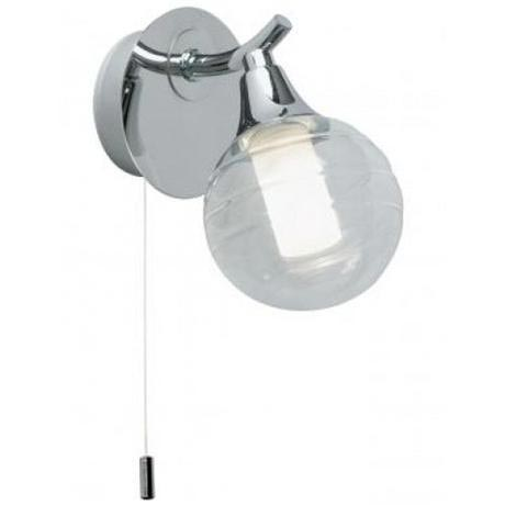 Endon - Interlude Single Wall Light Fitting with Glass Shade - EL-20054-CH at Victorian Plumbing UK