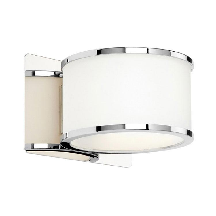 Endon Enluce Single Wall Light Bracket - Chrome/White - EL-20068 Large Image