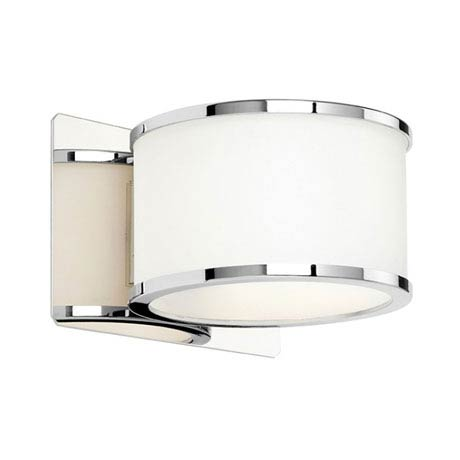 Endon Enluce Single Wall Light Bracket - Chrome/White - EL-20068