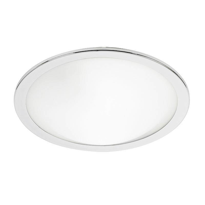 Endon Giles Flush Round Ceiling Light - Chrome - EL-20082 Large Image