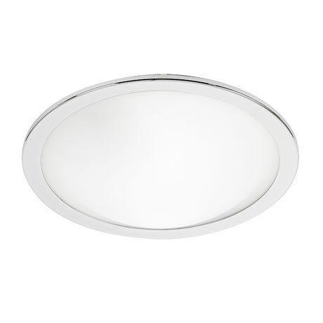 Endon Giles Flush Round Ceiling Light - Chrome - EL-20082