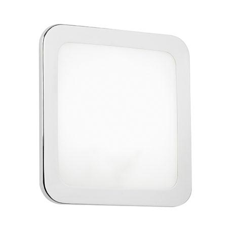 Endon Giles Flush Small Square Wall Light Bracket - Chrome - EL-20084