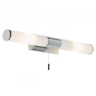 Endon - Enluce Dual Wall Light with Opal Glass & Pull Switch - Polished Chrome - EL-257-WB Large Image