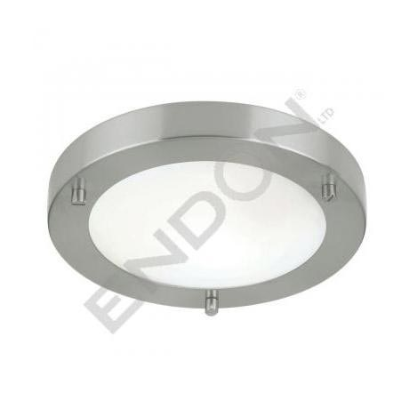 Endon Enluce Modern Flush Fitting Bathroom Light - Brushed Steel - EL-440-18BS