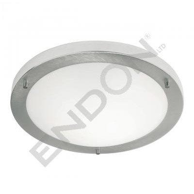 Endon Enluce Modern Flush Fitting Bathroom Light - Brushed Steel - EL-440-30BS profile large image view 1