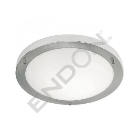 Endon Enluce Modern Flush Fitting Bathroom Light - Brushed Steel - EL-440-30BS