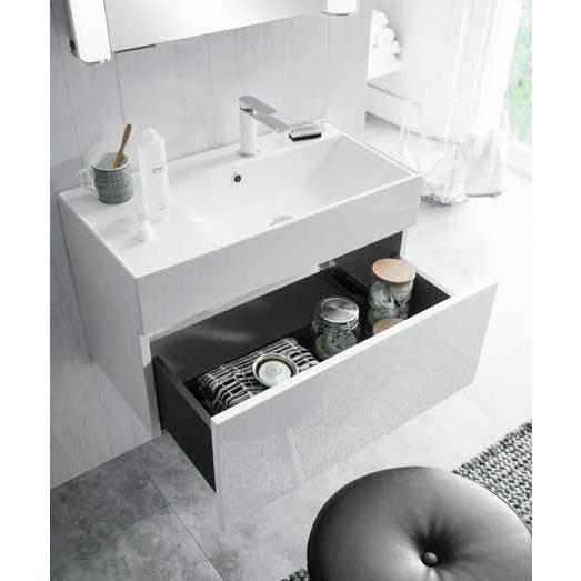 Bauhaus Elite Unit & Cast Mineral Marble Basin - White Gloss Standard Large Image