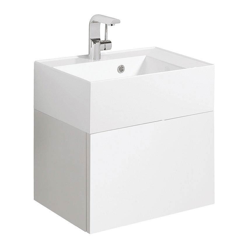 Bauhaus Elite Unit & Cast Mineral Marble Basin - White Gloss Large Image
