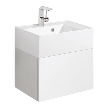 Bauhaus Elite Unit & Cast Mineral Marble Basin - White Gloss
