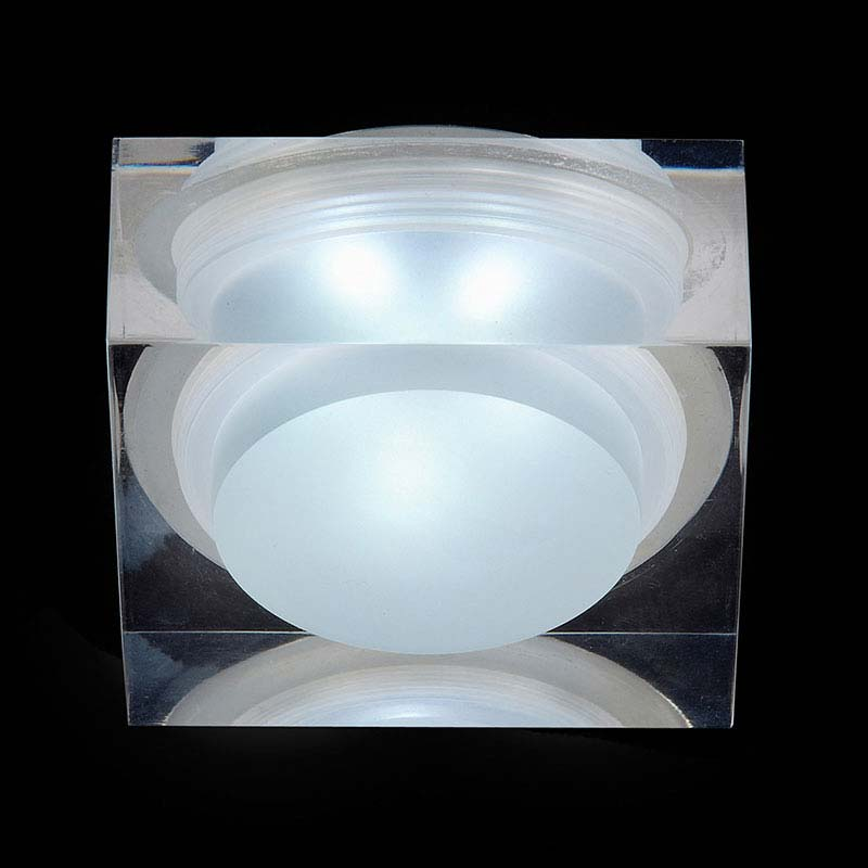 Endon Icen Modern Square Clear LED Downlight - EL-IP-7000 profile large image view 1