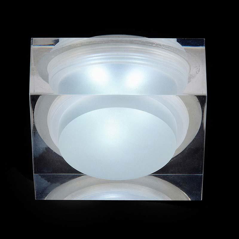 Endon Icen Modern Square Clear LED Downlight - EL-IP-7000 Large Image