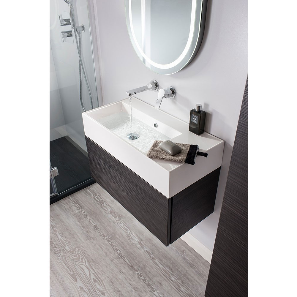 Bauhaus Elite Unit & Cast Mineral Marble Basin - Anthracite profile large image view 5